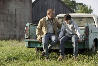 Kevin Costner and Dylan Sprayberry in Man of Steel