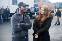 Zack Snyder and Amy Adams on set of Man of Steel