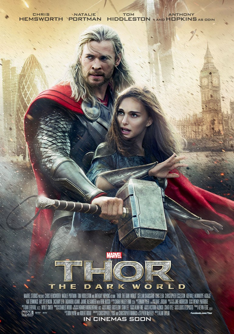thor: the dark world posters - thor and jane foster visit london
