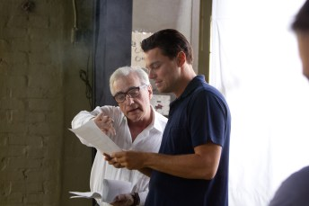 Martin-Scorsese-and-Leonardo-DiCaprio-on-set-of-The-Wolf-of-Wall-Street