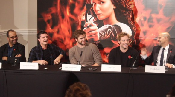 The Hunger Games Press Conference - Male Cast