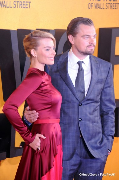 Leonardo Di Caprio and Margot Robbieat The Wolf of Wall Street Premiere