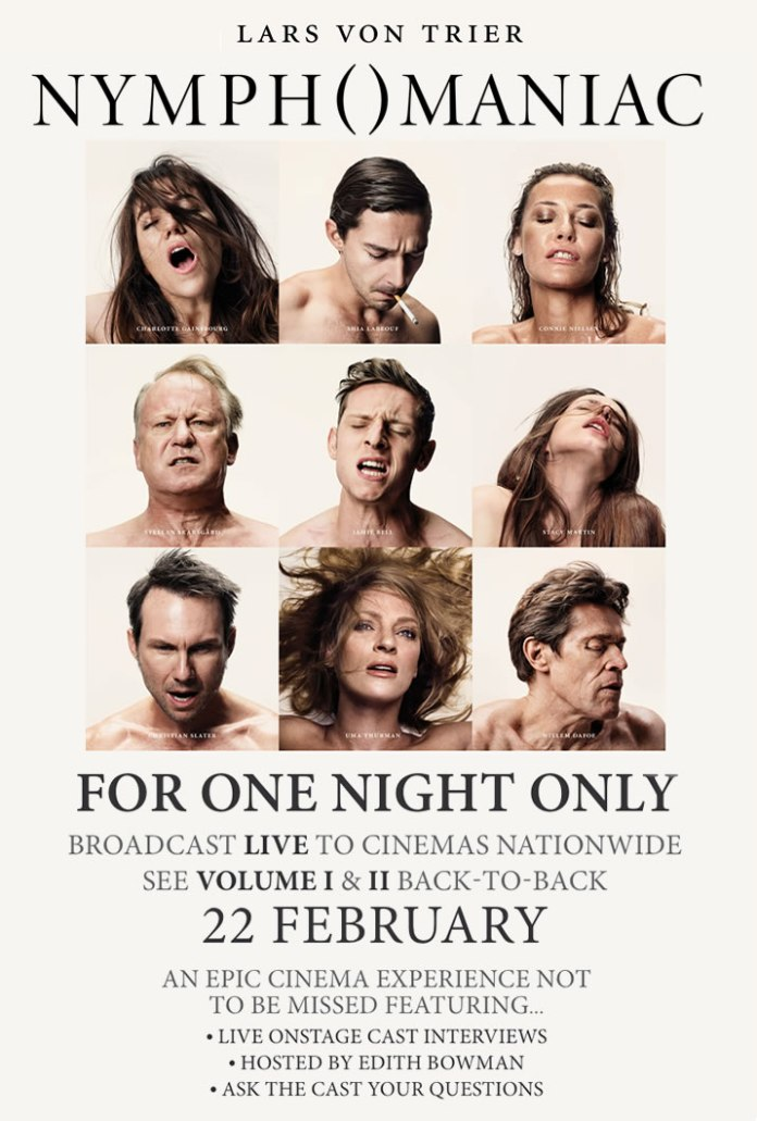 Nymphomaniac-Vols.-I-and-II-Poster-One-Night-Only