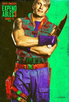 SDCC Expendables Poster - Dolph Lundgren