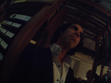 Here he is, the man himself – it's Nick Cave on set, early on in the shoot. Taken 2nd May 11:43am.