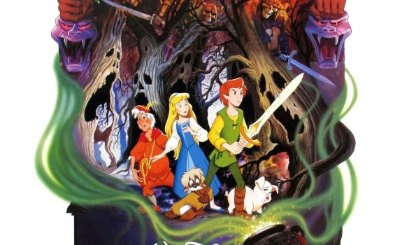The beautiful, but rather macabre theatrical poster for The Black Cauldron.