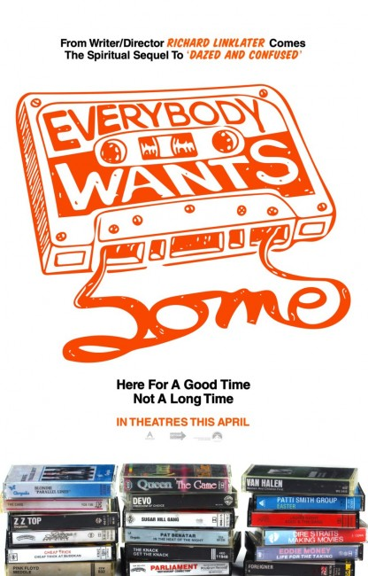 Everybody Wants Some Teaser Poster - Richard Linklater