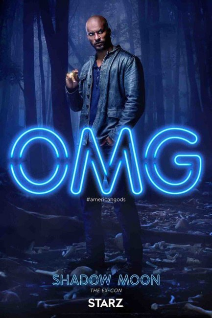 American Gods Character Poster - Shadow Moon Ricky Whittle