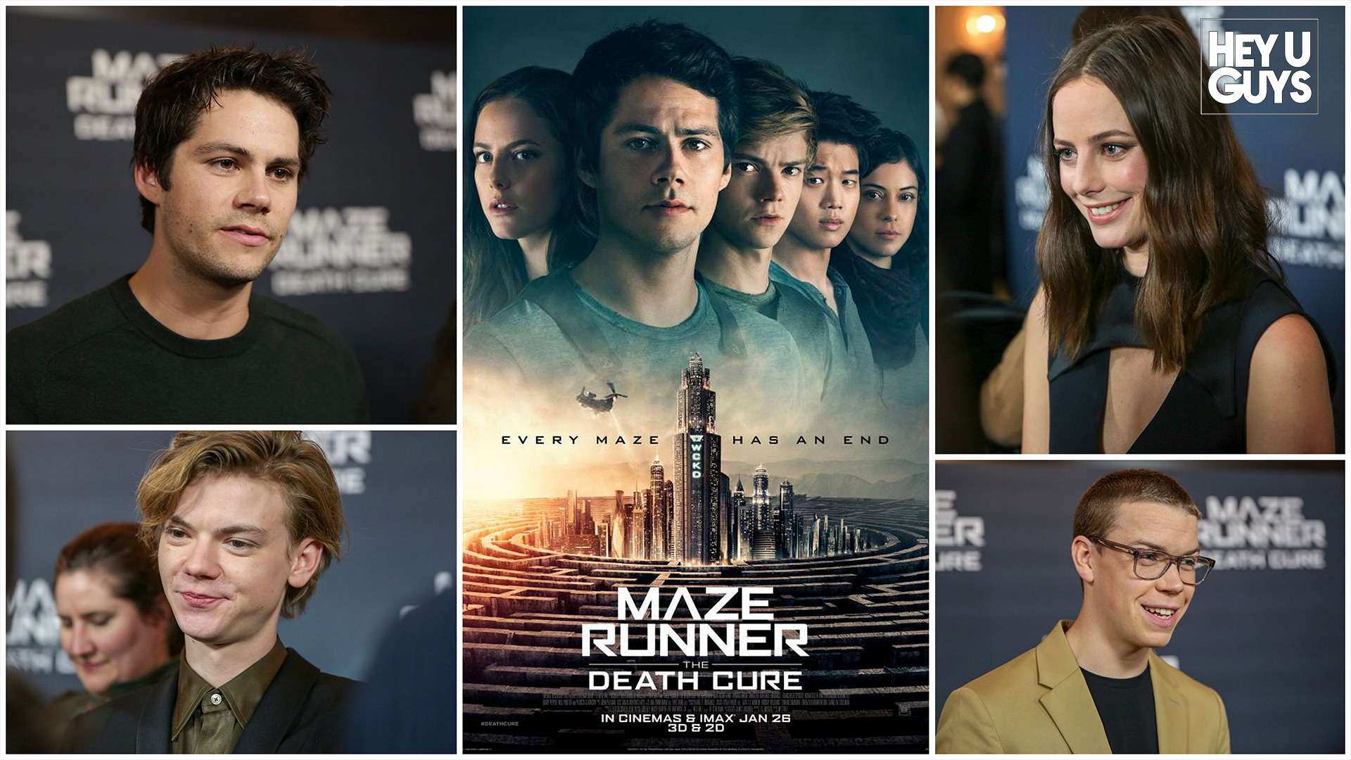 The Maze Runner The Death Cure premiere interviews