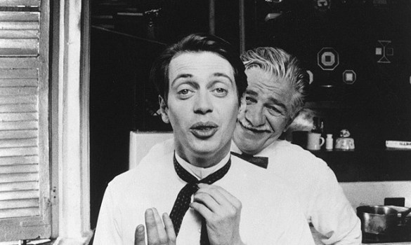Seymour Cassel as Joe and Steve Buscemi as Aldolpho Rollo in IN THE SOUP. Photo credit: Phil Parmet.
