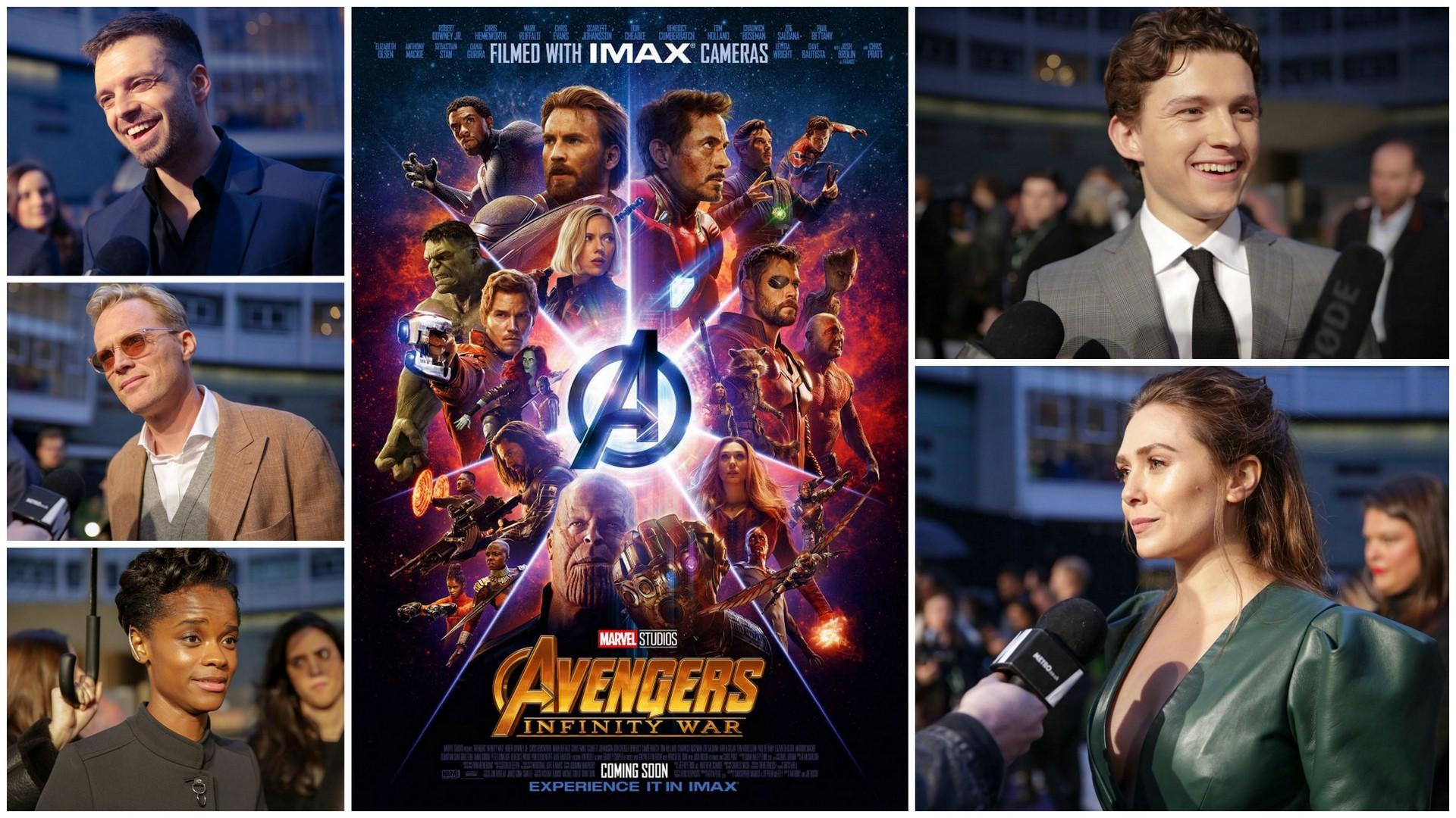 avengers infinity war cast interviews - tom holland, benedict