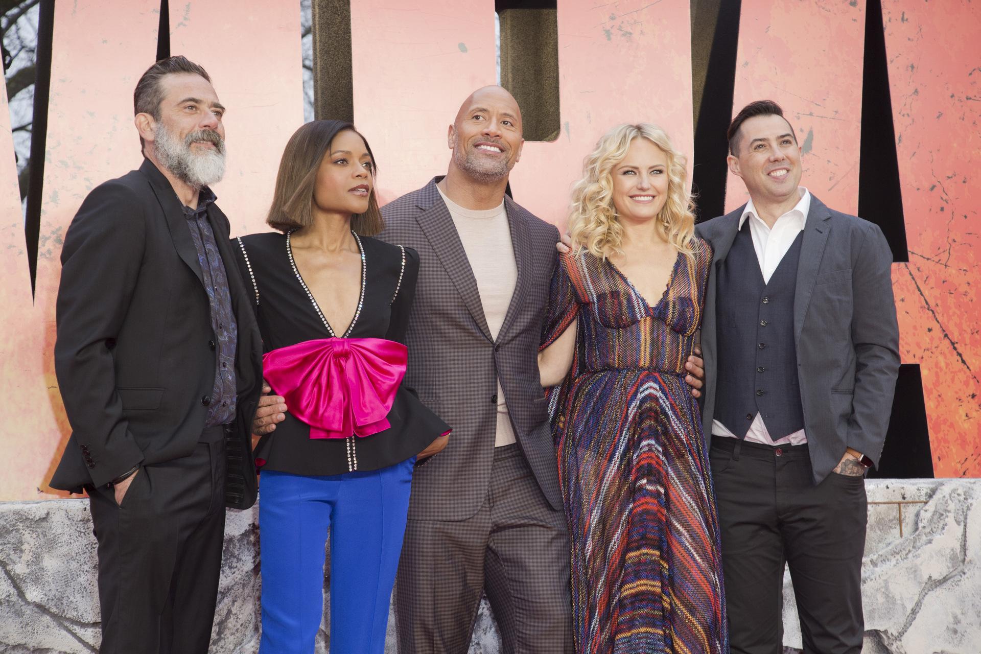 Rampage European Premiere - Dwayne Johnson, Jeffrey Dean Morgan, Naomie Harris, Malin Akerman & Brad Peyton