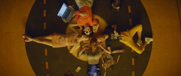 Odessa Young, Hari Nef, Suki Waterhouse and Abra in ASSASSINATION NATION. Courtesy of NEON.