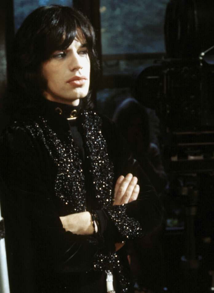 Mick Jagger on the set of Performance, copyright : The Sandy Lieberson archives