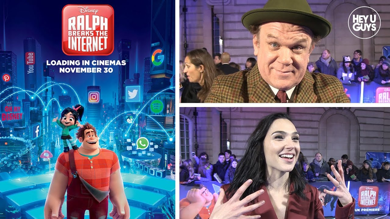 Wreck It Ralph 2 Premiere John C Reilly Sarah Silverman Gal Gadot On Breaking The Internet Heyuguys