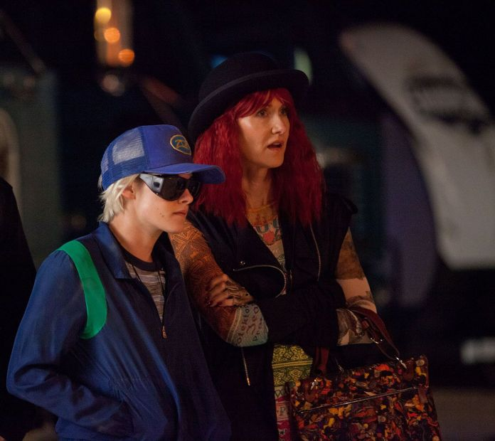 Kristen Stewart as Savannah Knoop and Laura Dern as Laura Albert in the film J.T. LEROY. Photo courtesy of Universal Pictures Content Group.