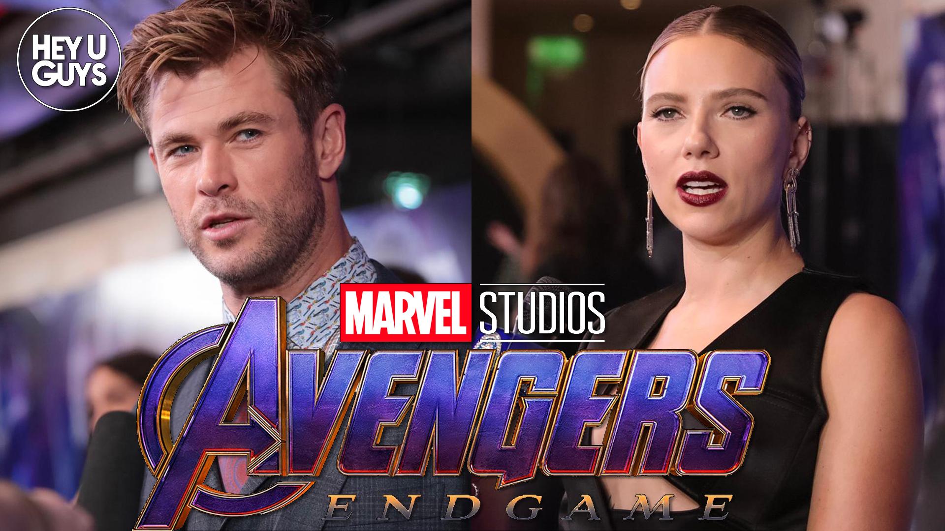 Avengers Endgame Interviews Scarlett Johansson Chris Hemsworth