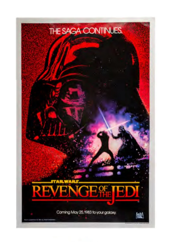 Revenge of the Jedi Auction poster