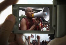The monks of Burma lend their voices to the protest