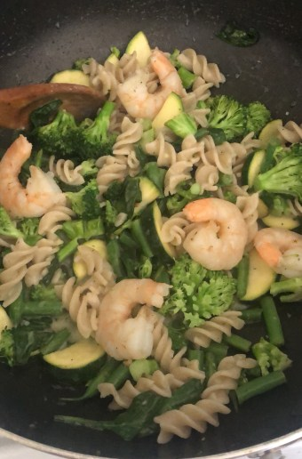 Shrimp and Brown Rice Pasta