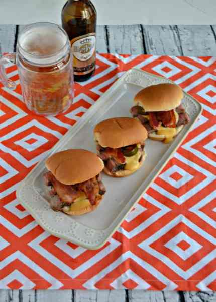 Looking for a delicious Game Day appetizer? Try my Ribeye Sliders with Beer Cheese Sauce!