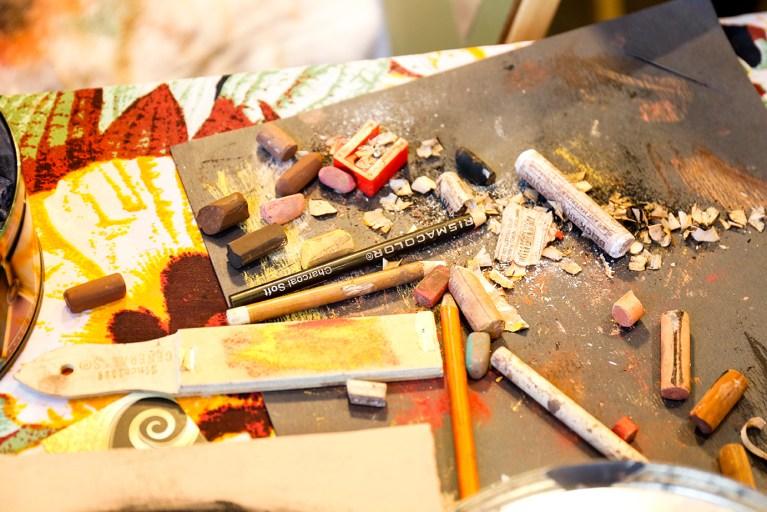 Artist's tools — live art