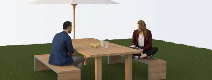 table de jardin en fer forge metal ou