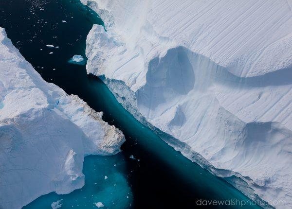 Space between two icebergs, Sermilik Fjord