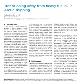 Transitioning away from heavy fuel oil in Arctic shipping