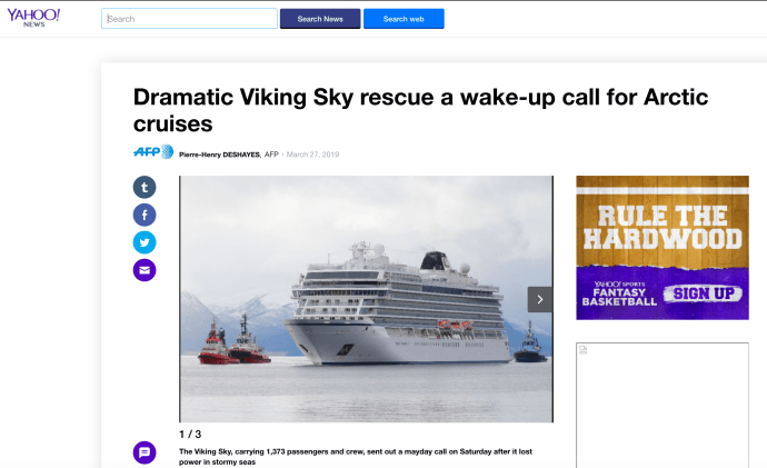 Dramatic Viking Sky rescue a wake-up call for Arctic cruises