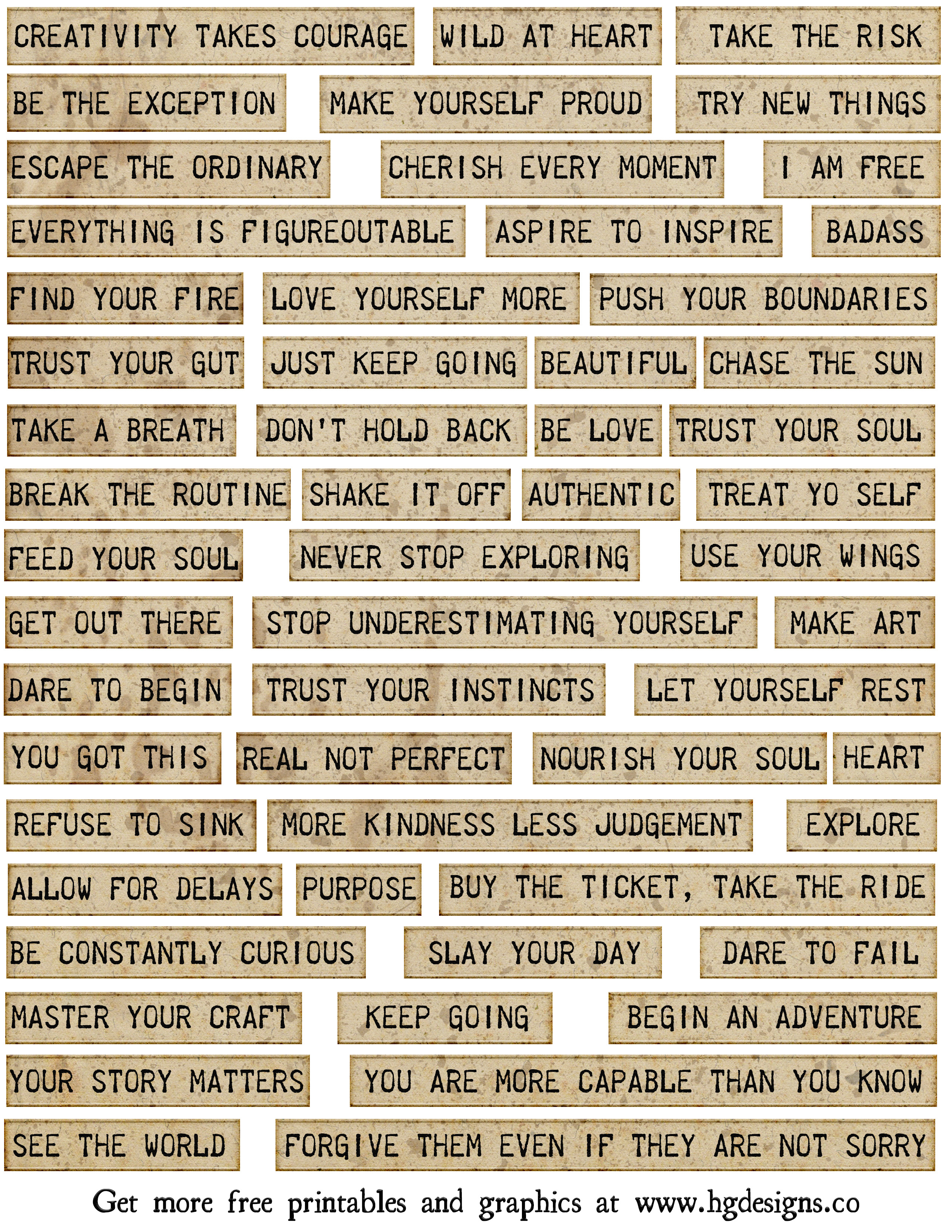 graphic relating to Free Printable Collage Sheets titled freebie: printable terms collage sheet HG Strategies