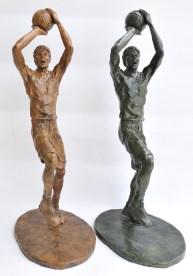 Fadeaway, bronze,basketball