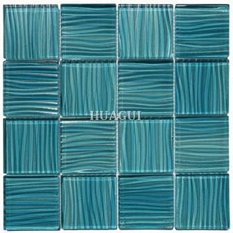 aqua blue wave swimming pool glass
