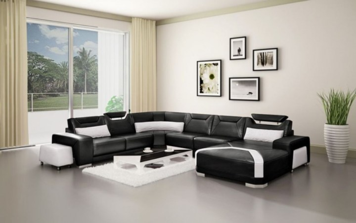 Decorating Ideas For Living Rooms With White Leather Furniture ...
