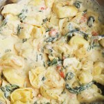 the best creamy pasta in the world! This recipe for creamy tortellini recipe is so delicious, everyone will love it - perfect for dinner!