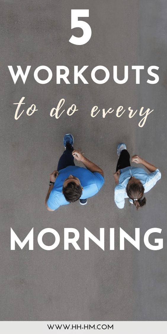 5 morning workouts you can do at home after you wake up to be more productive and successful! These full-body exercise routines are great for women who want to lose weight and burn fat!