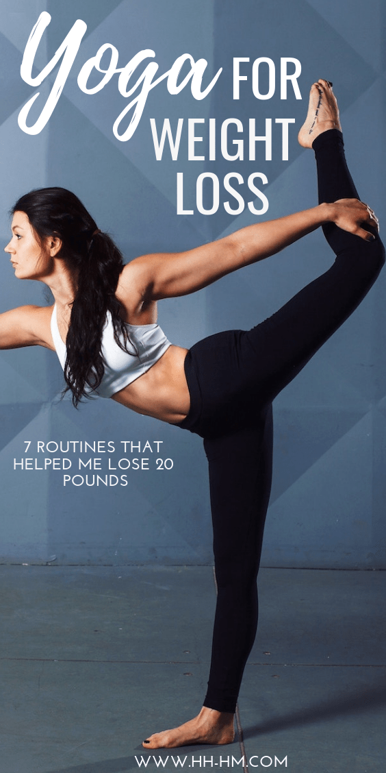 Yoga for weight loss: these 7 yoga routines helped me lose 20 pounds. I find the best time to do these sequences is in the morning after I wake up. You can do these workouts at home and need almost no equipment.