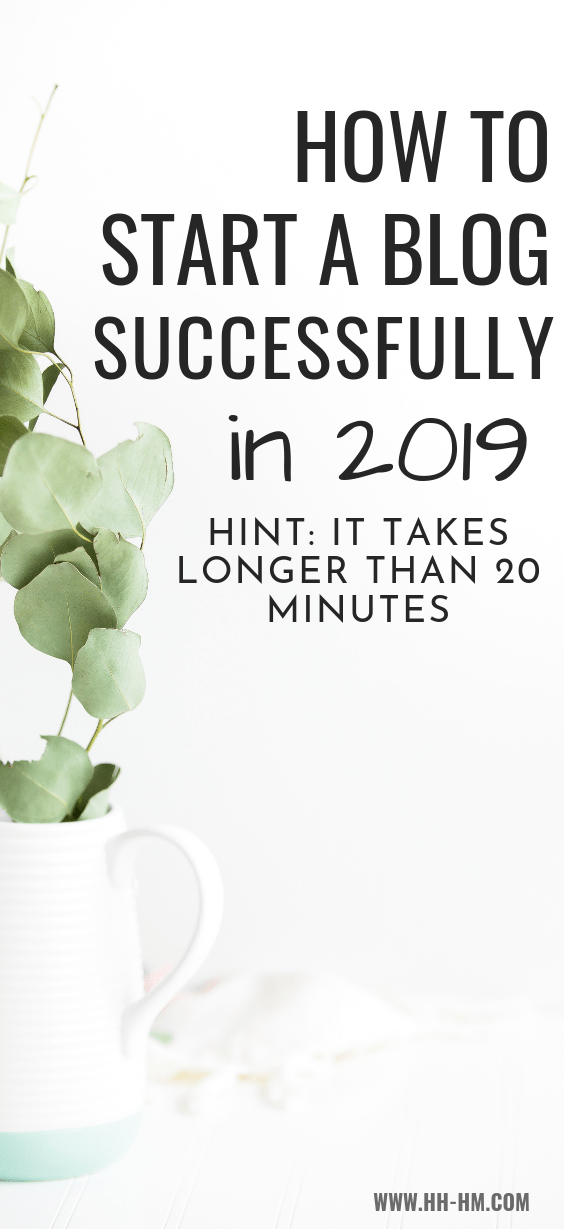Blogging for beginners - tips and ideas! These tips will help you start a blog, even in 2019 and even when you're a procrastinator! These are 6 things you need to to to start a blog successfully this year!