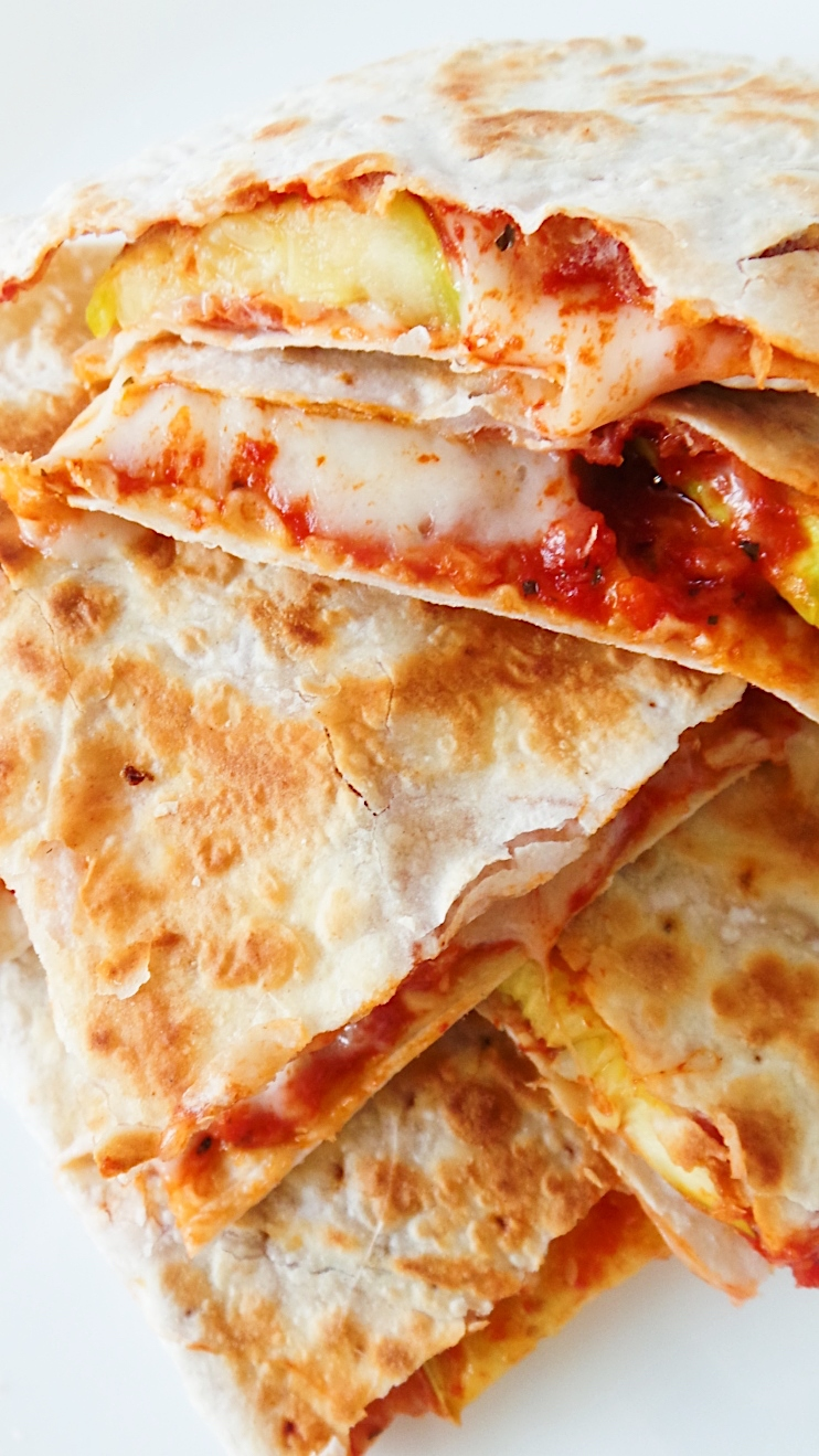 Easy Pizza Quesadilla (330kcal)