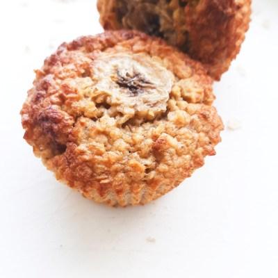 Healthy Banana Oatmeal Muffins (No Blender!)
