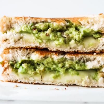 Garlic Avocado Grilled Cheese Sandwich