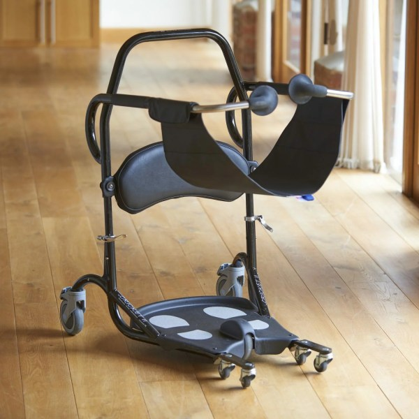 The Cricket II gives those with limited mobility a quick, easy and safe seated transfer from bed to chair to toilet, typically requiring just one carer. It's a great solution for users who can raise themselves to an upright or semi upright position for between about 10 seconds, then sit down for transfer.