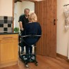 Cricket II Transfer & Transport Aid through kitchen door. The Cricket II Patient Transfer Aid can cope with the tightest of spaces while providing safe and easy seated transfers for both the user and caregiver.