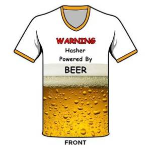Warning Hasher Powered By Beer Shirt