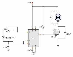 12V DC Motor Speed Control Circuit Diagram  HHO
