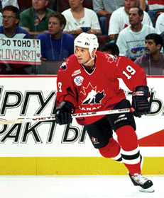 Steve Yzerman As A Member Of Team Canada At The 1996 World