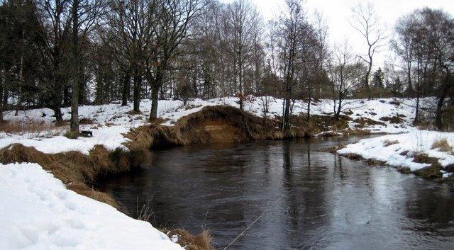 Karup Å i vinterdragt