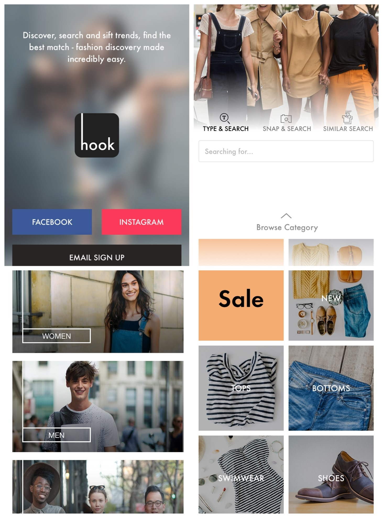Hook: One-Stop Shopping Search Engine for Fashion App