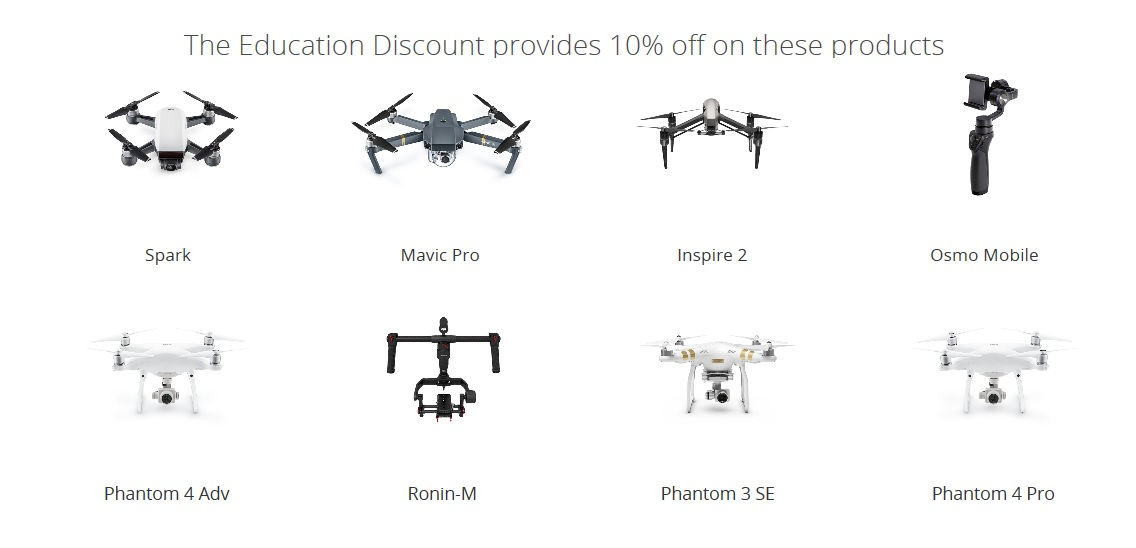DJI Back to school products