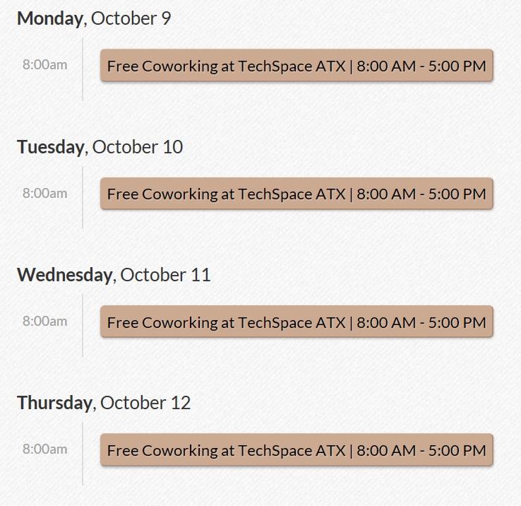 Austin Startup week free coworking